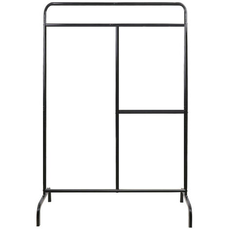 Metal Clothes Rail Hanging Rack Garment Display Stand Black