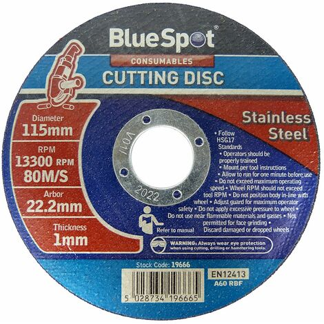 "Metal Cutting Discs 1mm Ultra Thin 4 1/2"" 115mm Angle Grinder Disc Steel 10 PACK"