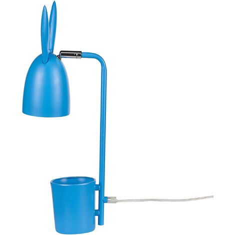 Metal Desk Lamp Blue RABBIT