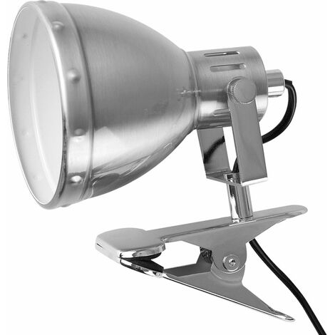 """main image of """"Metal Domed Adjustable Clip On Spotlight With a Cool White 4W Golfball LED - Brushed Chrome"""""""