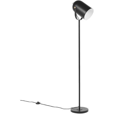 Metal Floor Lamp Black TYRIA