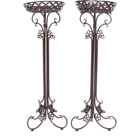 Metal Flower Pot Holder Plant Stand Shelves 35*32*95cm