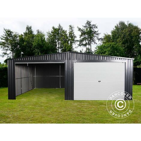 Metal garage double 6.37x5.13x2.41 m ProShed®, Anthracite