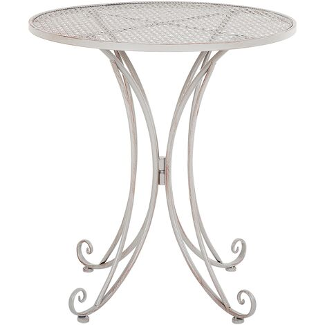 Metal Garden Bistro Table Grey CILENTO