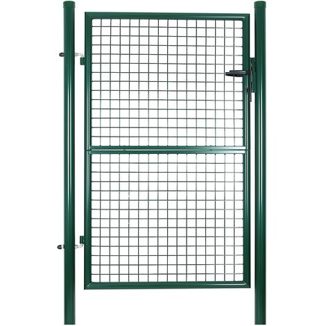 Metal Garden Gate Galvanised Fence With Lock 200 x 106 x 6cm GGD200G