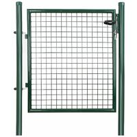 Metal Garden Gate Galvanised with Lock 150 x 106 x 6cm GGD150G