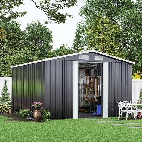 Metal Garden Shed Outdoor Tool shed - Dark Grey