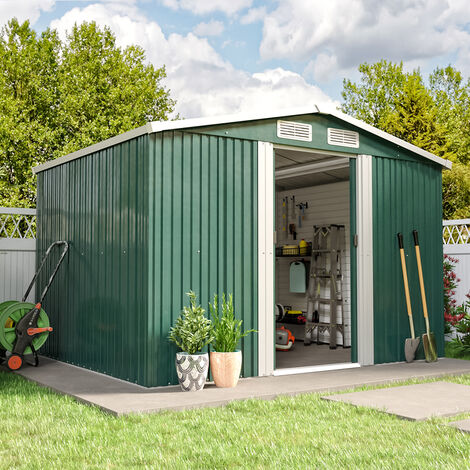 Metal Garden Shed Outdoor Tool shed - Green
