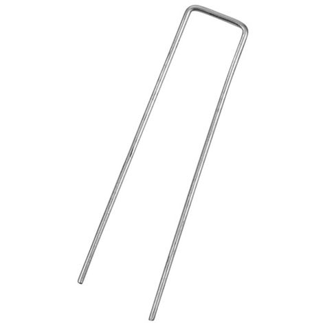 Metal Ground Hooks / Pins / Staples for Membrane & Garden Fabric - 6 Pack