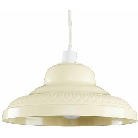 Metal Light Shades Ceiling Kitchen Lampshade Vintage Lighting - Cream