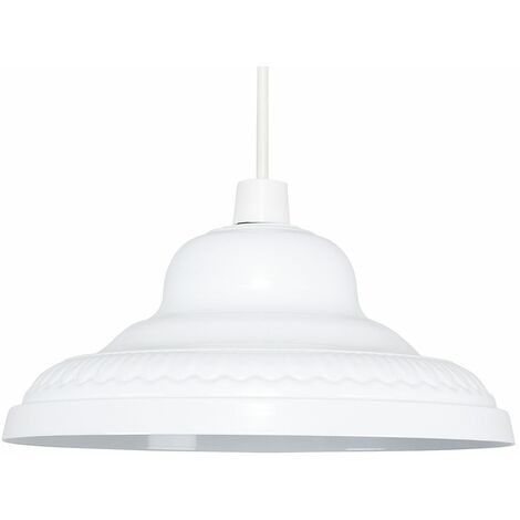 Metal Light Shades Ceiling Kitchen Lampshade Vintage Lighting - White