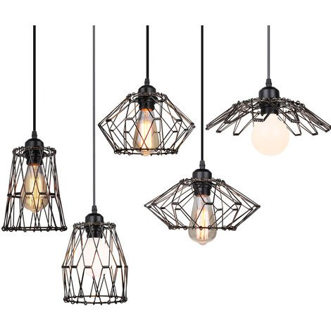 Metal Light Shades Multiple Shapes DIY Ceiling Lamp Shade Pendant Lighting Covers