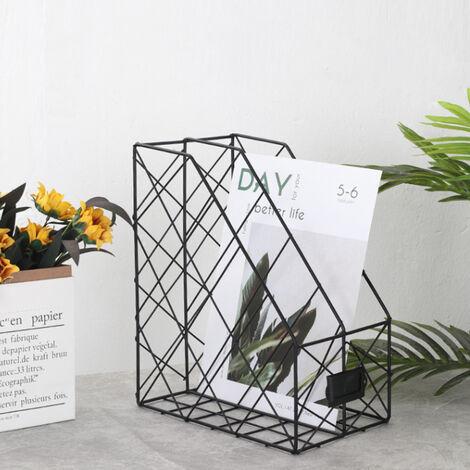 Metal Magazine Newspaper Wire Basket Storage Rack Organizer Office Home