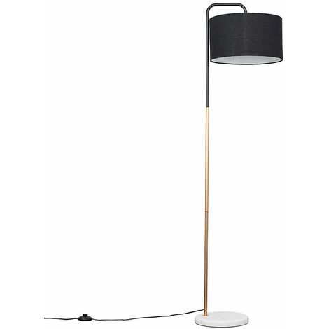 Metal & Marble Floor Lamp + Cotton Shade