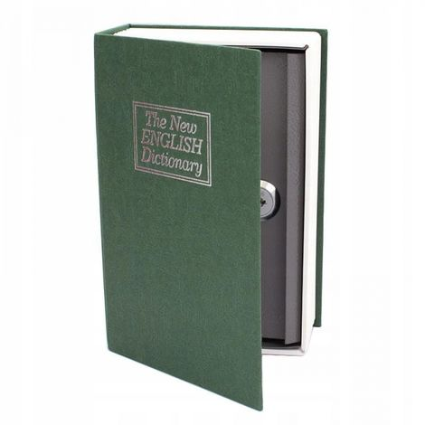 Metal money box safe book