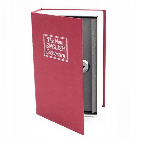Metal money box safe book dictionary