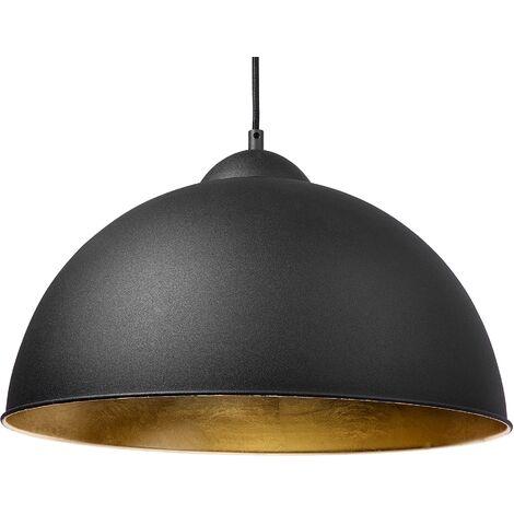 Metal Pendant Lamp Black CETINA