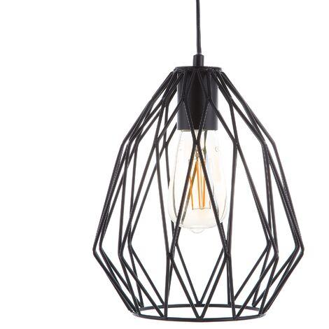 Metal Pendant Lamp Black MAGRA