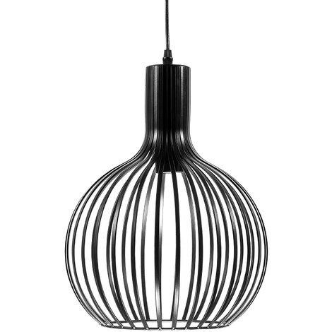 Metal Pendant Lamp Black SEGURA