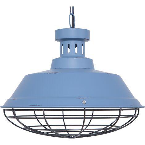 Metal Pendant Lamp Blue SORMONNE
