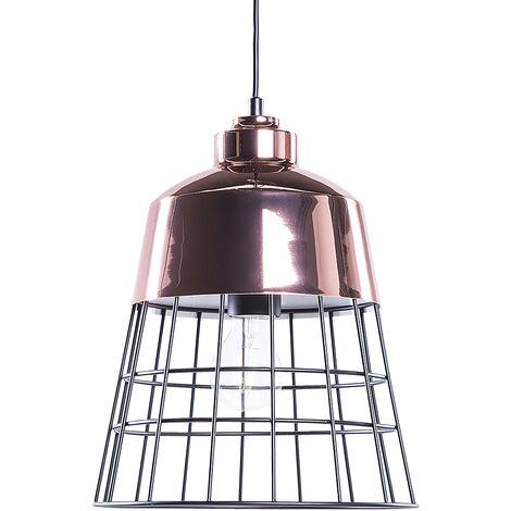 Metal Pendant Lamp Copper and Black MONTE