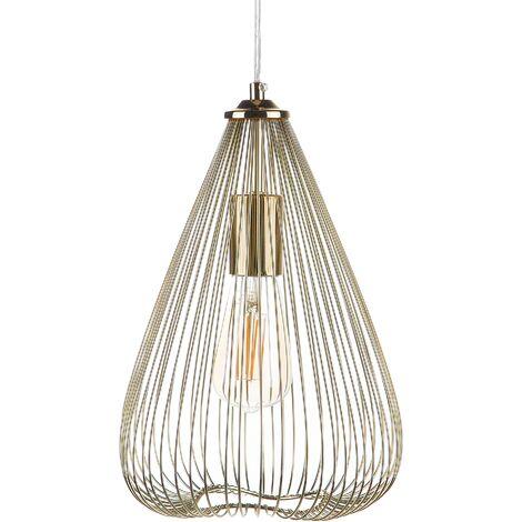 Metal Pendant Lamp Gold CONCA