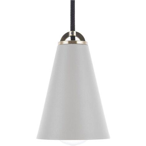 Metal Pendant Lamp Grey CARES