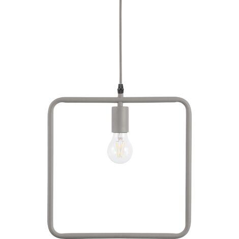 Metal Pendant Lamp Grey LERMA