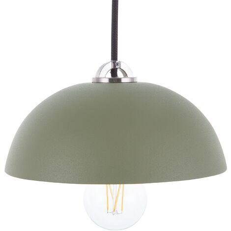 Metal Pendant Lamp Matte Green ESERA