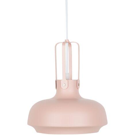 Metal Pendant Lamp Pink TARAVO