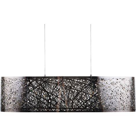 Metal Pendant Lamp Silver SEVESO