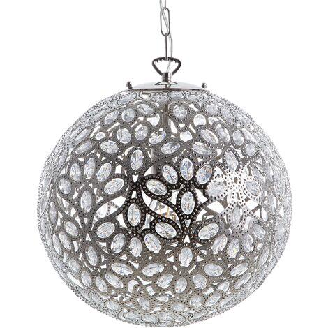 Metal Pendant Lamp Silver TAVOL