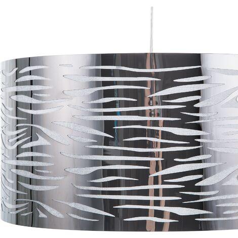 Metal Pendant Lamp Silver TORNO
