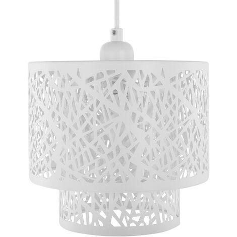 Metal Pendant Lamp White SANAGA