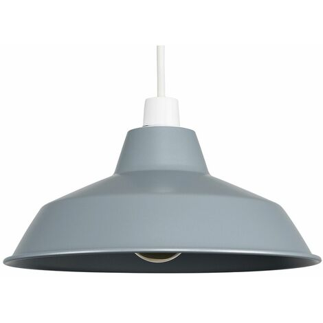 Metal Pendant Shades Ceiling Light Style Lounge Lighting Lampshade - Grey