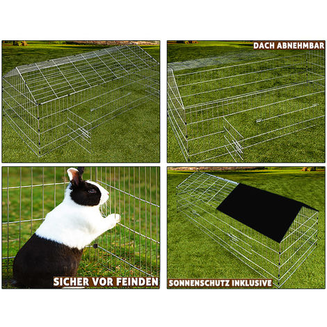Metal Rabbit Run Cage Enclosure Playpen Hutch Small Animal Guinea Pig Chicken