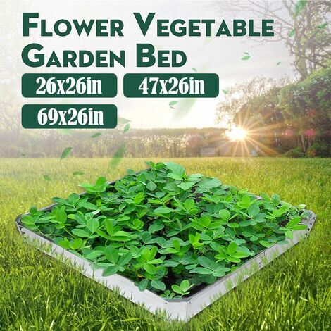 Metal Raised Garden Beds, Flowering Vegetable Planter Basket, Garden Box (69x26inch)
