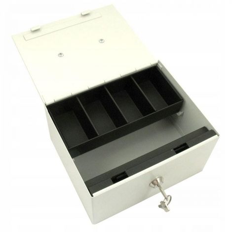 Metal safe box with cash key