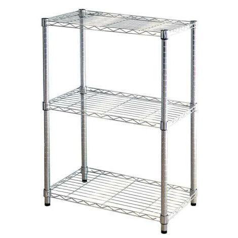 Metal shelving KIT CLOSET Pen Series - 3 shelves - Chrome - 90 x 35 x 60 cm