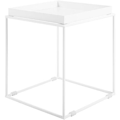 Metal Side Table White SAXON
