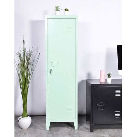 """main image of """"Metal Storage Cabinet File Locker Shelves with 3 Compartments Metal Locker for Home Office 38x38x137Hcm"""""""
