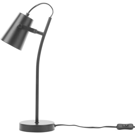 Metal Table Lamp Black FLINT
