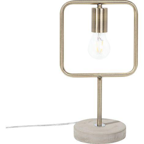 Metal Table Lamp Brass MUNDO