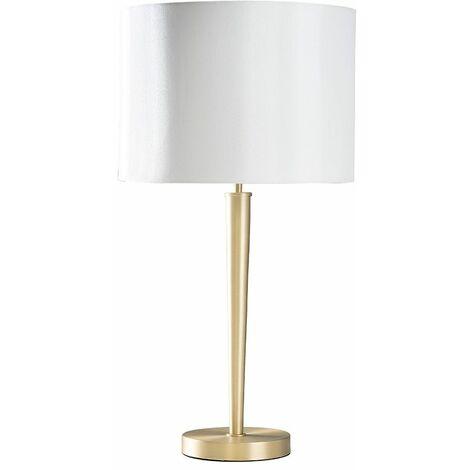 Metal Table Lamp Fabric Light Shades Bedside Lighting