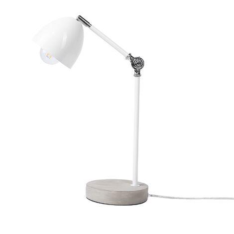 Metal Table Lamp White CHANZA