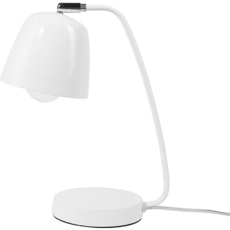 Metal Table Lamp White UROLA