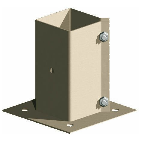 """Metal Timber Fence Post Support Holder Bolt Down - Like Met Post - 4"""" x 4"""" - pack of 10"""