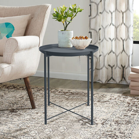 Metal Tray Coffee Table Bedside Table