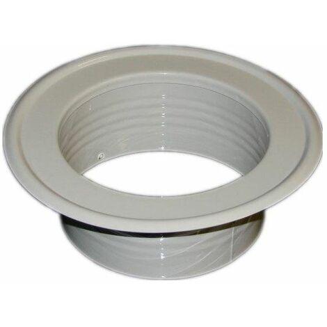 Metal Ventilation Ducting Pipe Wall Plate Spigot White 80mm Diameter