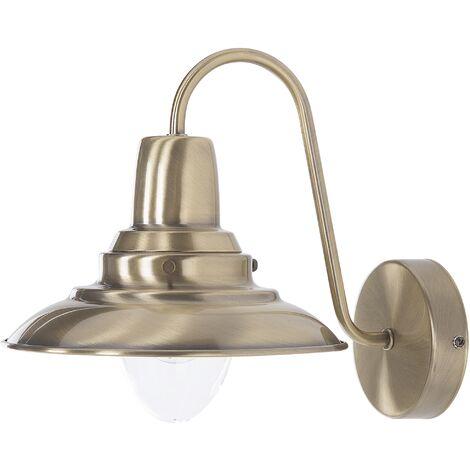Metal Wall Lamp Brass LUZA